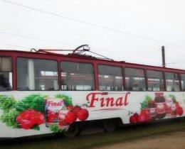 Реклама на трамваях